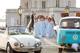 Maggiolino maggiolone cabrio bianco per matrimonio
