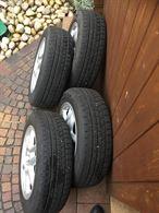 4cerchi in lega clio con pneumatici invernali usati pochissi